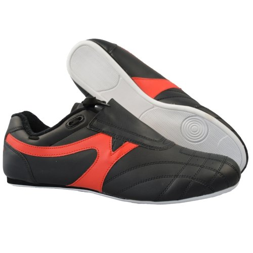 Martial arts shoes, Phoenix, black-red, 40 size