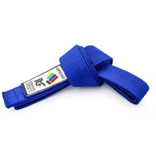 "Taekwon-Do belt ""ITF"" - blue, 220 cm méret"