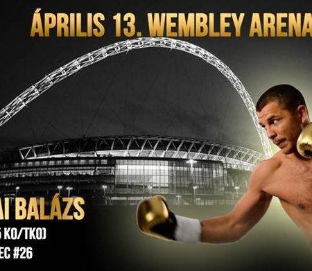 Bacskai Balázs a Wembleyben lép szorítóba