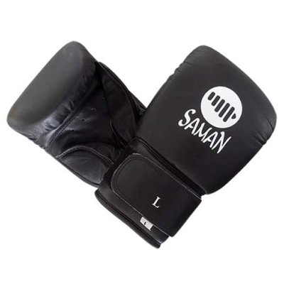 Bag Gloves, Saman, Professional, leather, black