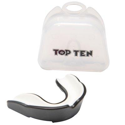 Fogvédő Topten Combat TPR, fekete/fehér, felnőtt