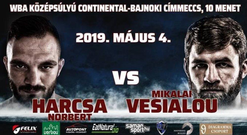 Harcsa Norbert WBA címmérkőzésen lép kötelek közé