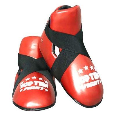 """Lábfejvédő, Top Ten, tépőzáras, """"Fight"""", piros"""