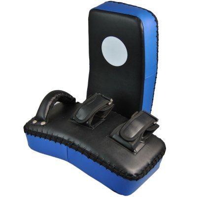 Curved boxing pad, Phoenix, 40 x 20 x 8 cm, black and blue