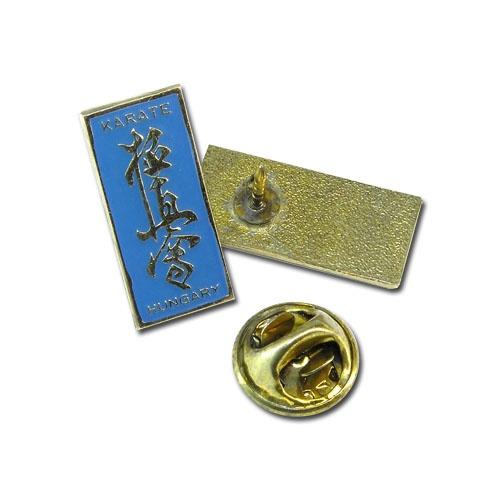 Pin, Kyo Kanji, metal, blue, one size