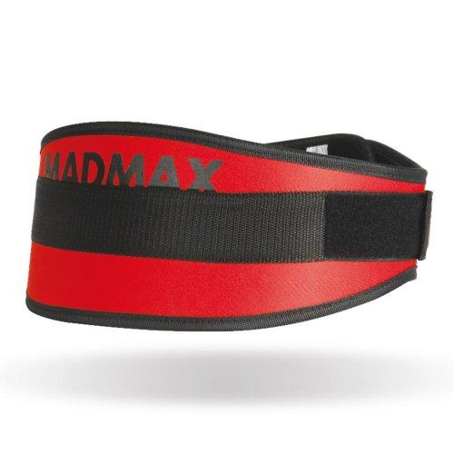 """Súlyemelő öv, Madmax, Simply The Best 6"""", szintetikus, Piros szín, M méret"""