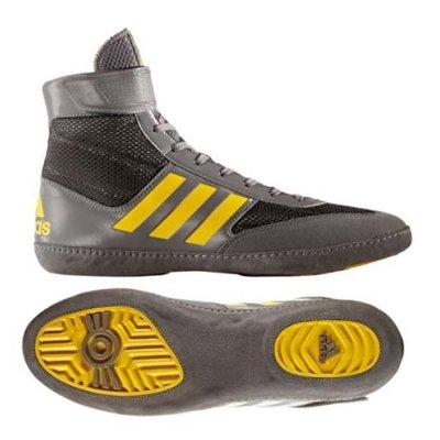 Birkózó cipő, adidas, Combat Speed 5, szürke/citrom