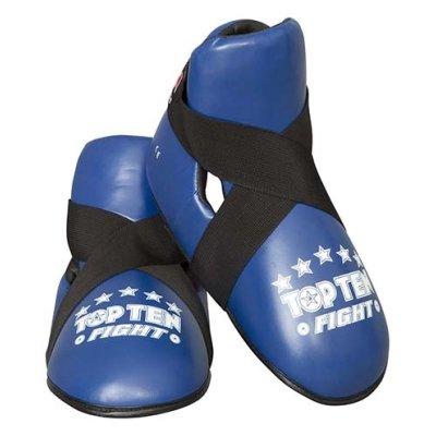 """Lábfejvédő, Top Ten, tépőzáras, """"Fight"""", kék"""