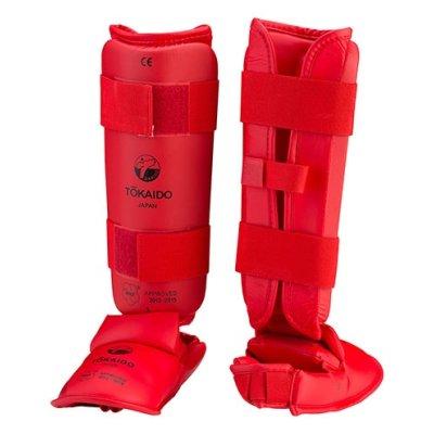 Lábszárvédő, lábfejes, Tokaido, WKF, PU, piros