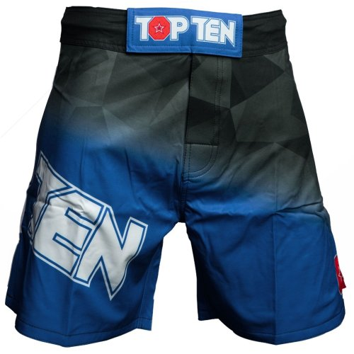 MMA Shorts, Top Ten, Scratched, black, Kék szín, L size