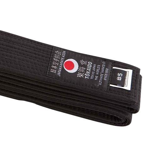Karate öv, Tokaido, pamut, fekete, Japán design, 325 (6,5) méret