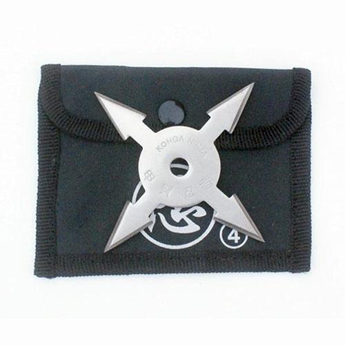 Shuriken, steel, 4 nibbed