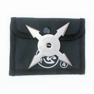 Shuriken, steel, 4 nibbed
