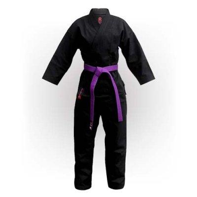Karate Uniform, Saman, Budo Black, cotton, black, 12 oz