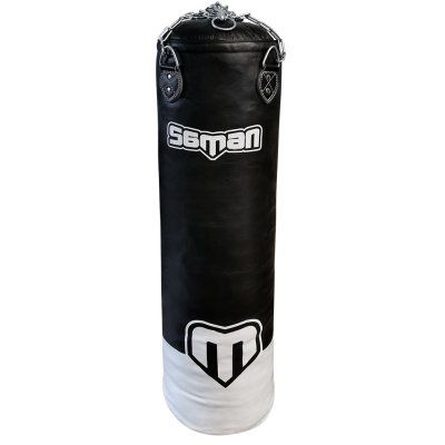 Punching Bag, Saman, with chain, leather, black