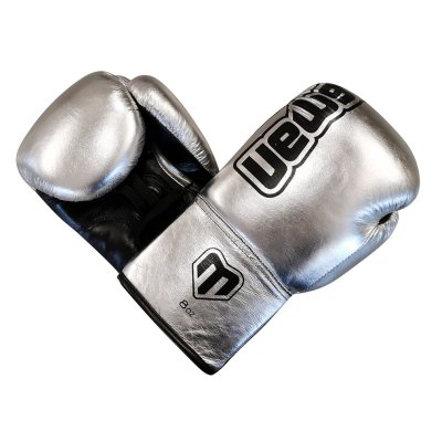 Boxing gloves, Felix Promotion, laced, silver