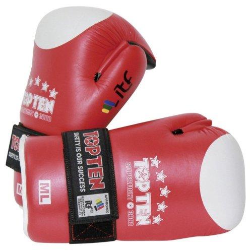 Semi-contact kesztyű, Top Ten, ITF Superfight 3000, Piros szín, M-L méret (BJJ)