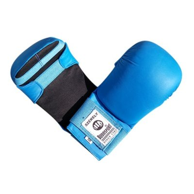 Karate mitts, Saman Eco, artificial leather, blue