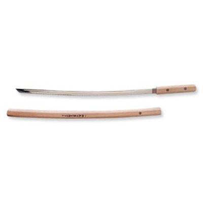 Katana, Shirasaya, metal, wooden sheath, natural
