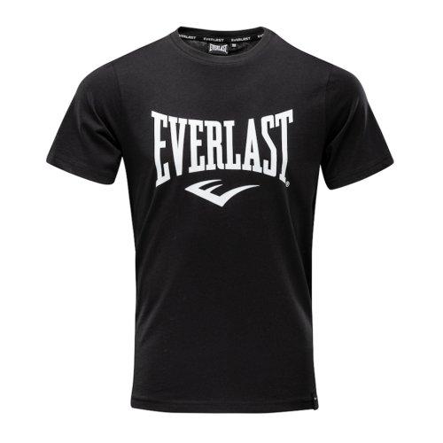 Póló, Everlast, Russel, férfi, pamut, fekete