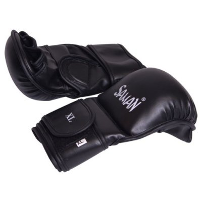 MMA gloves, Saman, Sparring, Skyntex, black