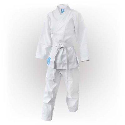Karate Uniform, Saman, Hanami Saman with belt, white, cotton/poly