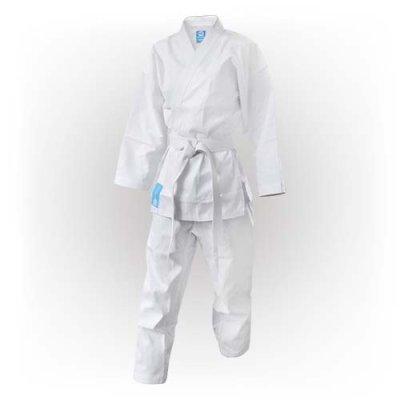 Karate ruha, Saman, Hanami, övvel, fehér, pamut/poly
