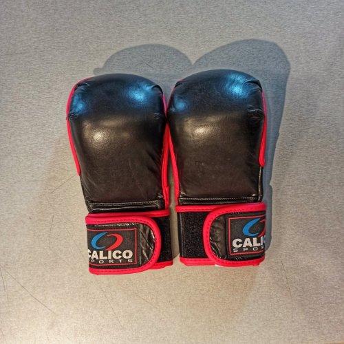 MMA kesztyű, Calico, Sparring, fekete-piros, L