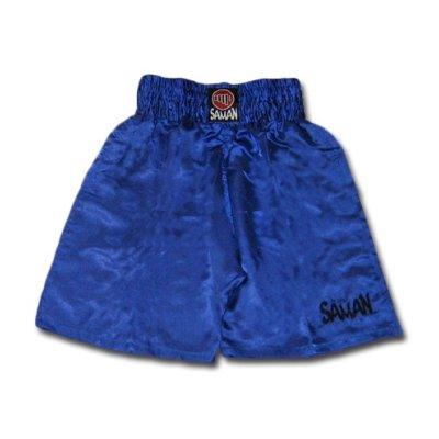 Box nadrág, Saman, műszál, kék