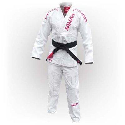 Jitsu ruha, Saman, Furious, 550 g/m2, fehér
