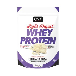 QNT, Light Digest, Gluten-free Protein, 500 g, White Chocolate Flavour