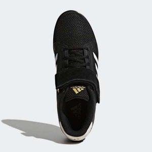 Crossfit cipő, súlyemelő cipő, adidas, Power Perfect III, fekete/fehér
