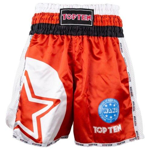 Kick-box nadrág, Top Ten, WAKO Star, Piros szín, XL méret