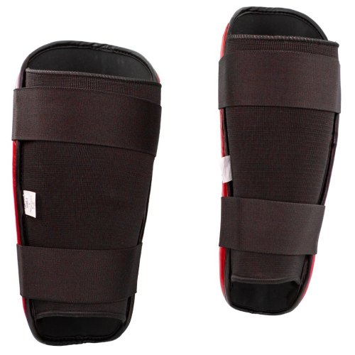Shin Guard, Top Ten, WAKO Style, Piros szín, XL size