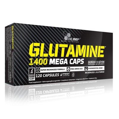 Olimp, L-Glutamine 1400 Mega Caps®, glutamin, 120 kapszula