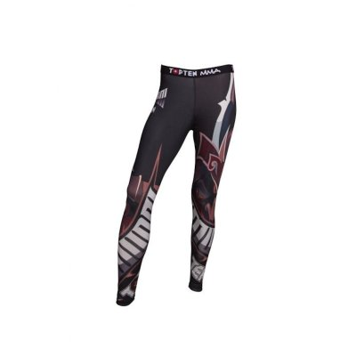 "Training tights, Top Ten, Leggings ""Samurai"", black/red"