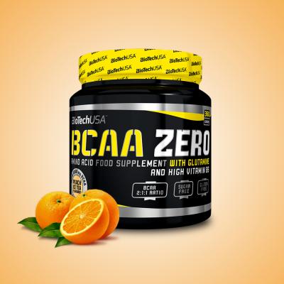 Biotech, BCAA Zero Aminosav, 360 gr, narancs