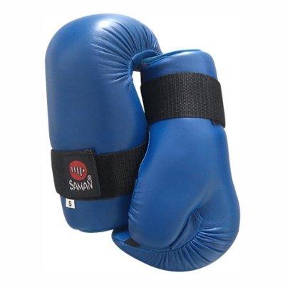 Semi-contact kesztyű, Saman, műbőr, kék