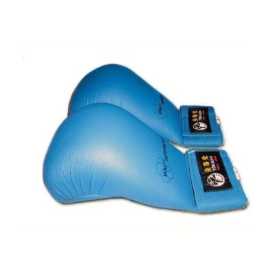 Karate mitt, Tokaido, WKF, artificial leather, blue