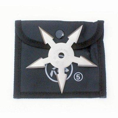 Shuriken, steel, 5 nibbed