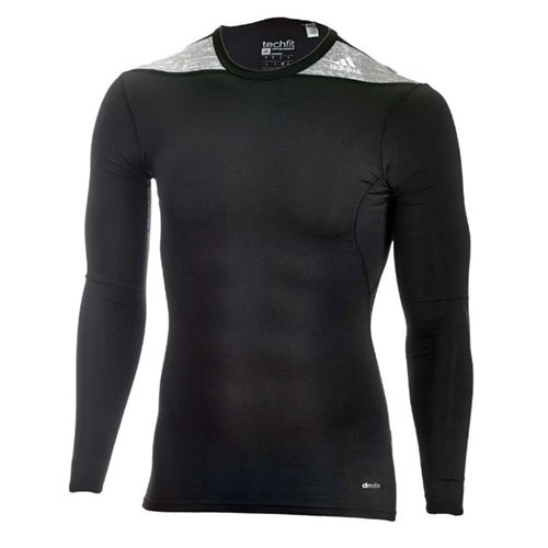 Techfit 2 shirt, adidas, elastic, long sleeve, black