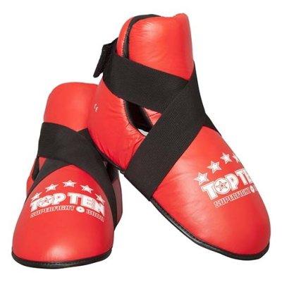 """Lábfejvédő, Top Ten, tépőzáras, """"Superfight"""", piros"""
