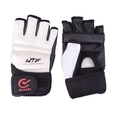 Taekwondo gloves, WTF, Wacoku, white/black