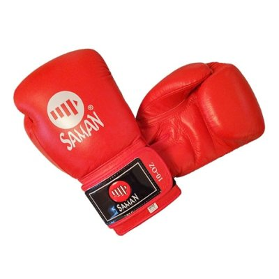 Boxing gloves, Saman, Competition, leather, red