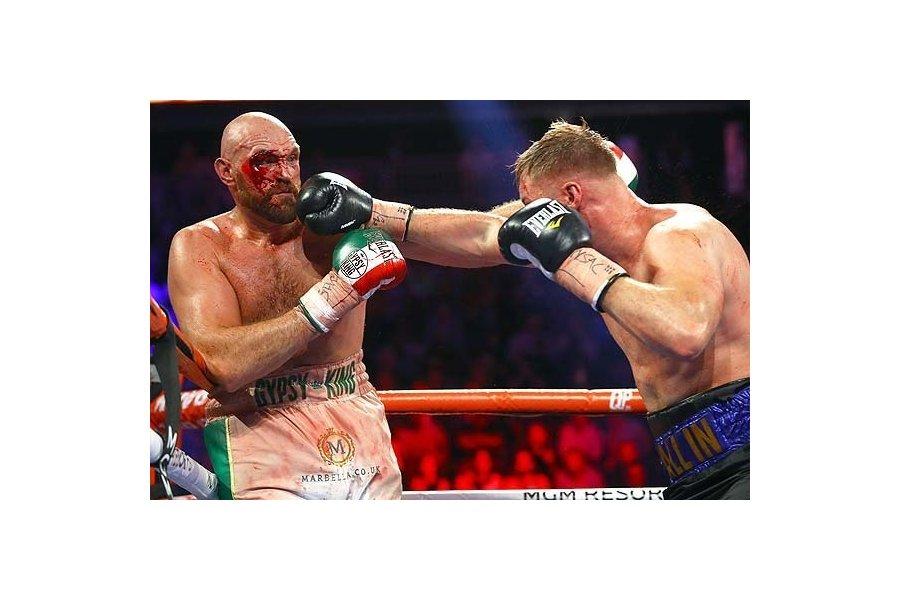 Tyson Fury-t mintha vérbe mártották volna