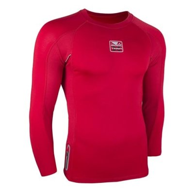 Compression T-Shirt, X-Train, Bad Boy, long sleeve, red