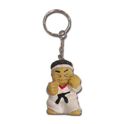 Kulcstartó, karate baba