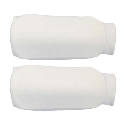 Forearm pads, cotton, white
