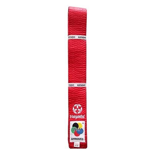 Karate öv, Hayashi, WKF, piros, 320 méret