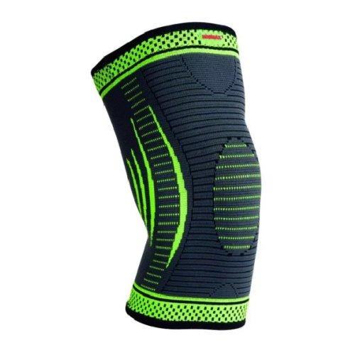 Térdvédő, Madmax, 3D Compressive, patella stabilizálóval, zöld, L méret